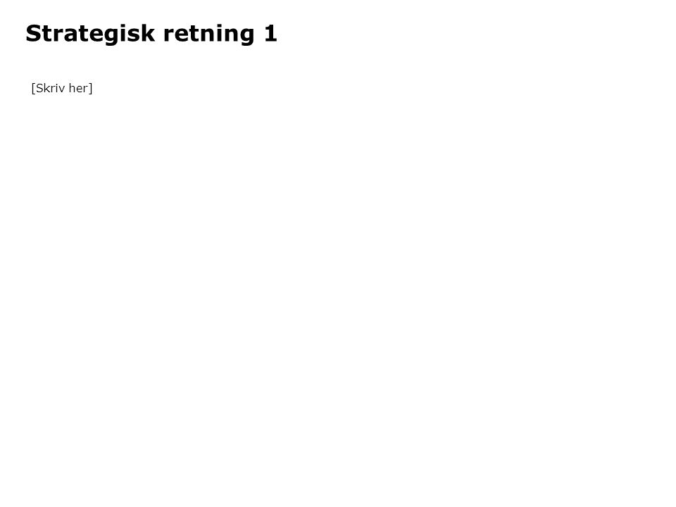 Strategisk retning 1 [Skriv her]